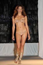 £210 NEW Melissa Odabash Designer Seville Gold Chain Nude Mocha Tan Bikini 8 6 4