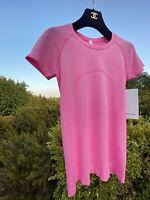 "NWT ""Dark Prism Pink"" 2020 Lululemon Women Swiftly Tech Short Sleeve Sz 6 DKPP"