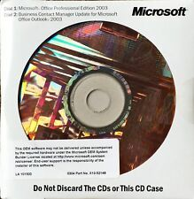 Genuine Microsoft Office Professional Edition 2003 with Business Contact Manager