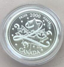 2000 ~ CANADA MILLENIUM 25 CENTS ~ PRIDE ~ CERTIFIED PROOF