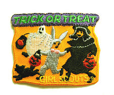 HALLOWEEN, Girl Scouts TRICK OR TREAT Patch Costume NEW Multi=1 Ship Chrg