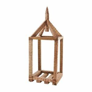 Mudpie - Brown Wood House Lantern - 40320062B