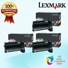 New & Genuine Lexmark C780H1CG YG MG Toner Set C780 C782 X782 10K Pages
