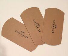 Set 3 New Authentic Coach Pillow Style Gift Box Tan For Wristlet Keychain Wallet