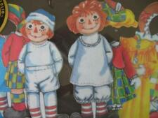 """Magicloth Cloth """"Paper"""" Dolls -Raggedy Ann and Andy #18 Schylling 1995 Nrfb"""