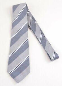 Brioni NWT Silk Neck Tie In Blues & White Wide Stripes $230