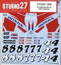 1:12 HONDA NSR500 MICK DOOHAN-ALEX CRIVILLE DECALS TEST 1994 For Tamiya RARE