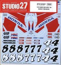 1:12 HONDA NSR500 MICK DOOHAN-ALEX CRIVILLE DECALS TEST 1994 For Tamiya RARE