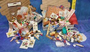 Grab Bag Box Job Lot: Vintage & New Dollhouse Makings for Mini Accessories! MXZ