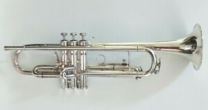 Vintage 1971 King Silver Flair Professional  Plated Trumpet with Original Case