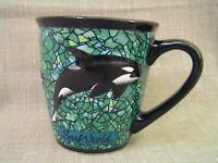 Sea World 3D Killer Whale Shamu Orca Large 14 oz. Coffee Mug Cup - Mint
