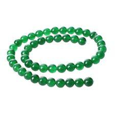 Perlas sueltas verdes redondas de la piedra preciosa del jade 0,31pulgadaMuy PD7