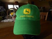 John Deere Tractor Trucker Hat Vintage Snapback Green baseball cap hat preowned