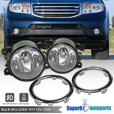 For 2012-2015 Honda Pilot EX Bumper Fog Lights w/ Switch Covers 12-15 Fog Lamps