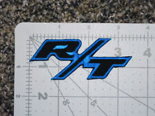 DODGE RT LOGO BLACK BLUE CAR BIKER FORMULA RACING MECHANIC PATCH - MADE IN USA