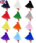 NORIVIIQ Vintage Petticoat Bridal Short Skirts 50s Tutu Fancy Net Underskirt UK