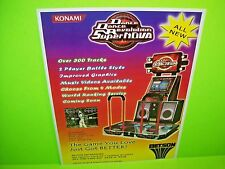 Konami DANCE DANCE SUPER NOVA 2006 Original Video Arcade Game Promo Sales Flyer