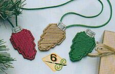 HOLIDAY LIGHTS BULBS CHRISTMAS PLASTIC CANVAS PATTERN INSTRUCTIONS ONLY