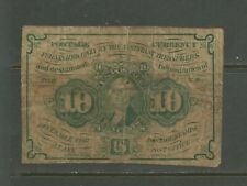 US USA Sc# PC6 USED F Circulated Washington Postage Currency
