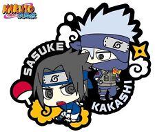 Megahouse Rubber Mascot Buddy Colle Naruto Shippuden Sasuke & Kakashi Keychain