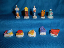 BAKER Pastry Chef BAKERY Baking Set of 10 Mini Figurines FRENCH Porcelain FEVES
