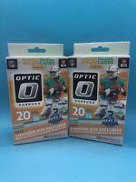 (2) 2020 NFL Panini Donruss Optic Football Hanger Boxes. Herbert. Tua. Sealed.