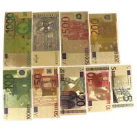10pcs Euro-Banknoten-Goldfolien-Papiergeld-Handwerks-Sammlungs-Anmerkungs-WYEDE