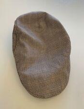 Mens Tweed Check Vintage Herringbone Wool Mix Flat Cap Baker Boy UK Stock