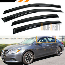 FOR 2016-2018 NISSAN ALTIMA S SV SL SR 3D WAVY WINDOW VISOR RAIN GUARD DEFLECTOR