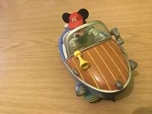 Disney Store Mickey Mouse Boat Car And Figure - Combine Postage