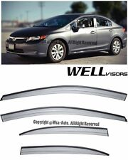 For 12-15 Civic Sedan WellVisors Side Window Visors Aerodyn Series Rain Guard