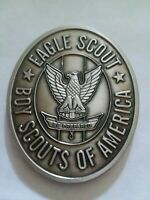 BOY SCOUTS OF AMERICA EAGLE SCOUT BSA ENGRAVABLE 2'  NICKEL CHALLENGE COIN