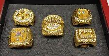 Kobe Bryant - Los Angeles Lakers 5 Championship Ring Set With Wooden Display Box