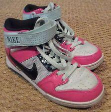 NIKE Womens Air Mogan Mid 2 Patent Pink Black Teal Shoe 407479-036 Sz 6.5