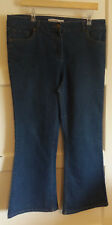 CAJC170) Ladies blue jeans Bootcut 16S Debenhams - used - some fading but nice