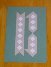JESSICA HISCHE TYPOGRAPHIC POSTCARD ~ DAILY DROP CAPITAL LETTER ~ GREEN B ~ NEW