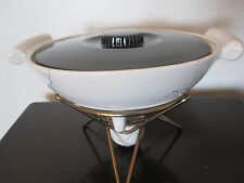 VTG Shawnee Kenwood Atomic Drizzle Fondue Server With Lid Stand & Candle Holder
