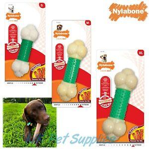 Nylabone Nylon Bone Bacon Extreme Double Action Dog Tough Dental Chew Toy