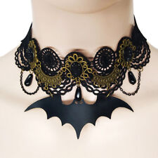 Steampunk Gothic Bat Collar Lace Choker Pendant Necklace Charm Jewelry Gift ATAU