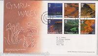 GB ROYAL MAIL FDC FIRST DAY COVER 2004 WALES CYMRU STAMP SET LLANFAIRPG PMK