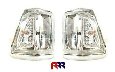 FOR TOYOTA HILUX LN106 4WD 91-97 CORNER LIGHT CRYSTAL LENS,CHROME RIM- PAIR