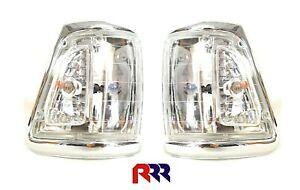 FOR TOYOTA HILUX LN106 4WD 91-97 CORNER LIGHT CRYSTAL LENS,CHROME RIM- PAIR