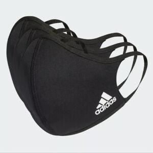 Adidas Face Cover Mask Black HB7851 Size Medium/Large 3 Pack