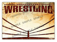 The Autograph Card Blank Signature cards 25 WRESTLING