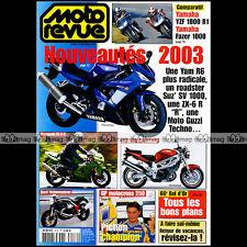 MOTO REVUE N°3532 YAMAHA R1 FZS 1000 FAZER HONDA 750 AFRICA TWIN DE PUNIET 2002