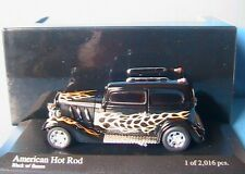 AMERICAN HOT ROD BLACK WITH FLAMES MINICHAMPS 400 142260 scale 1/43 modelcar