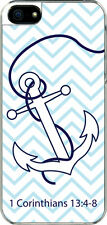 iPhone 5 Chevron Anchor 1 Corinthians 13:4-8 Designed Sticker on Hard Case Cover