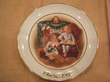 """""""Enjoying the Night Before Christmas"""" Collector Plate~ 3rd Avon Memories 1983"""