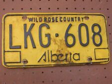 Expired ALBERTA CANADA Wild Rose Country License Plate LKG-608
