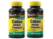( PACK 2 ) 100 capsules COLON HERBAL CLEANSER NATURAL DETOX ALOE VERA ALFALFA